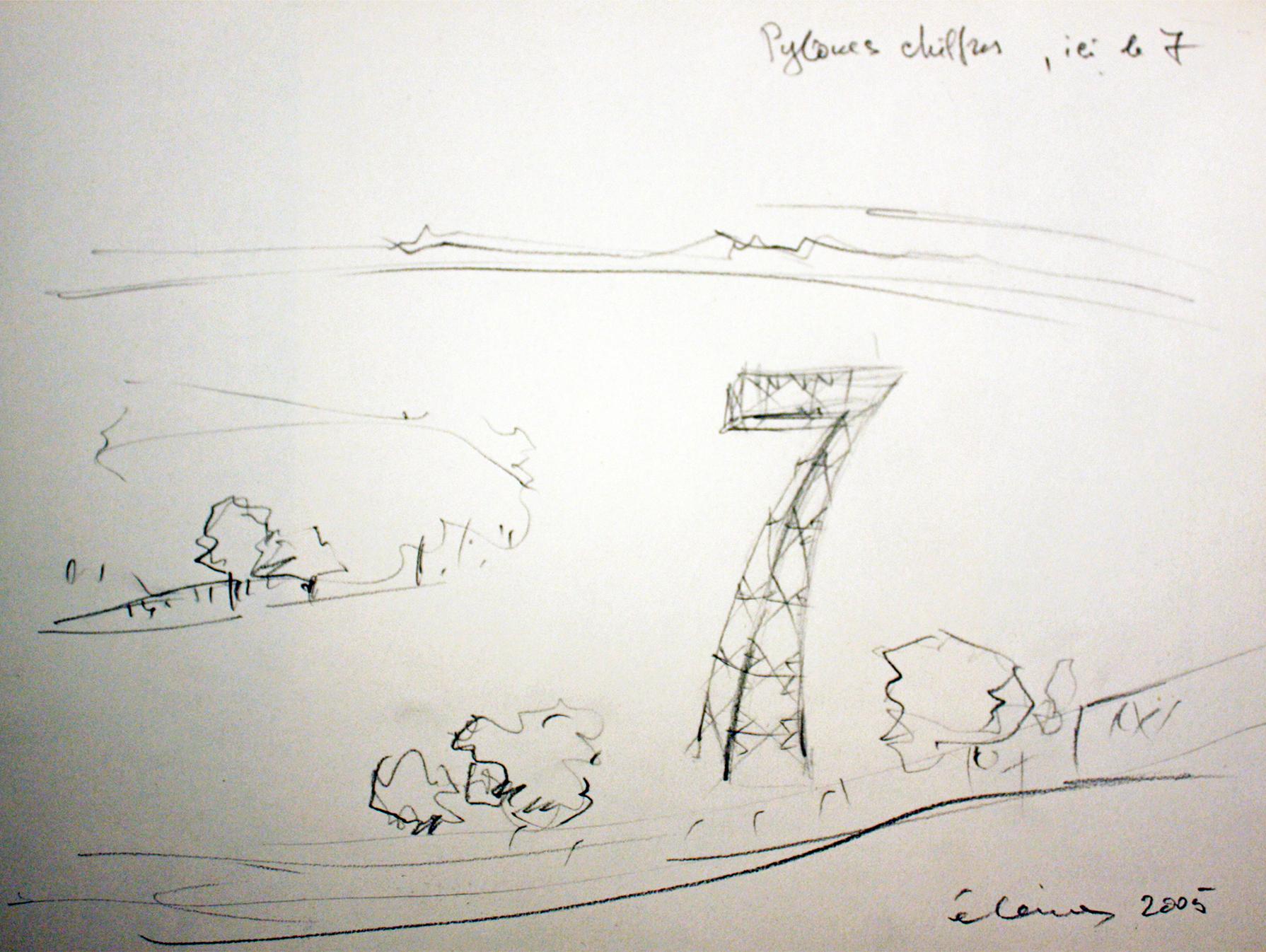 Seven Pylon-Sculptures
