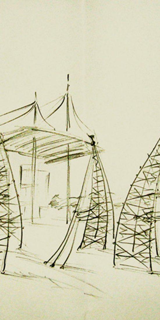 A-connection, pylon