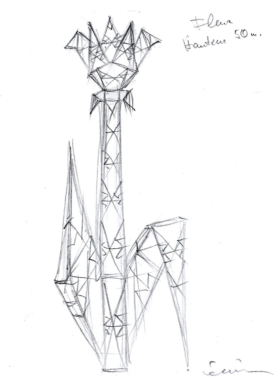 Flower, pylon