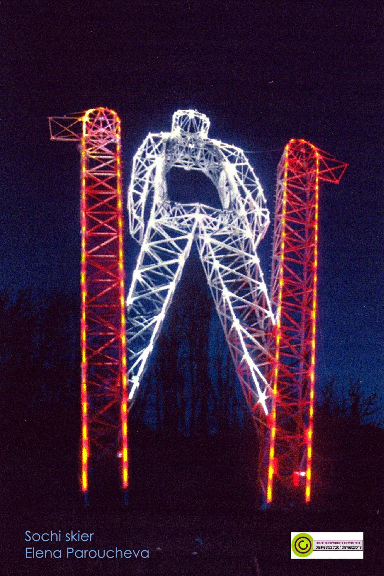 Sochi Skier, monumental sculpture