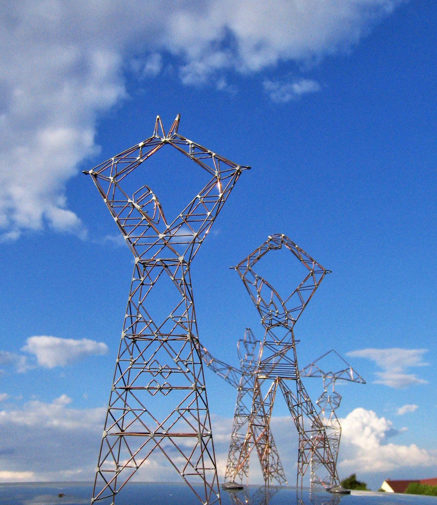Giant Ladies, Four Sculpture-Pylons