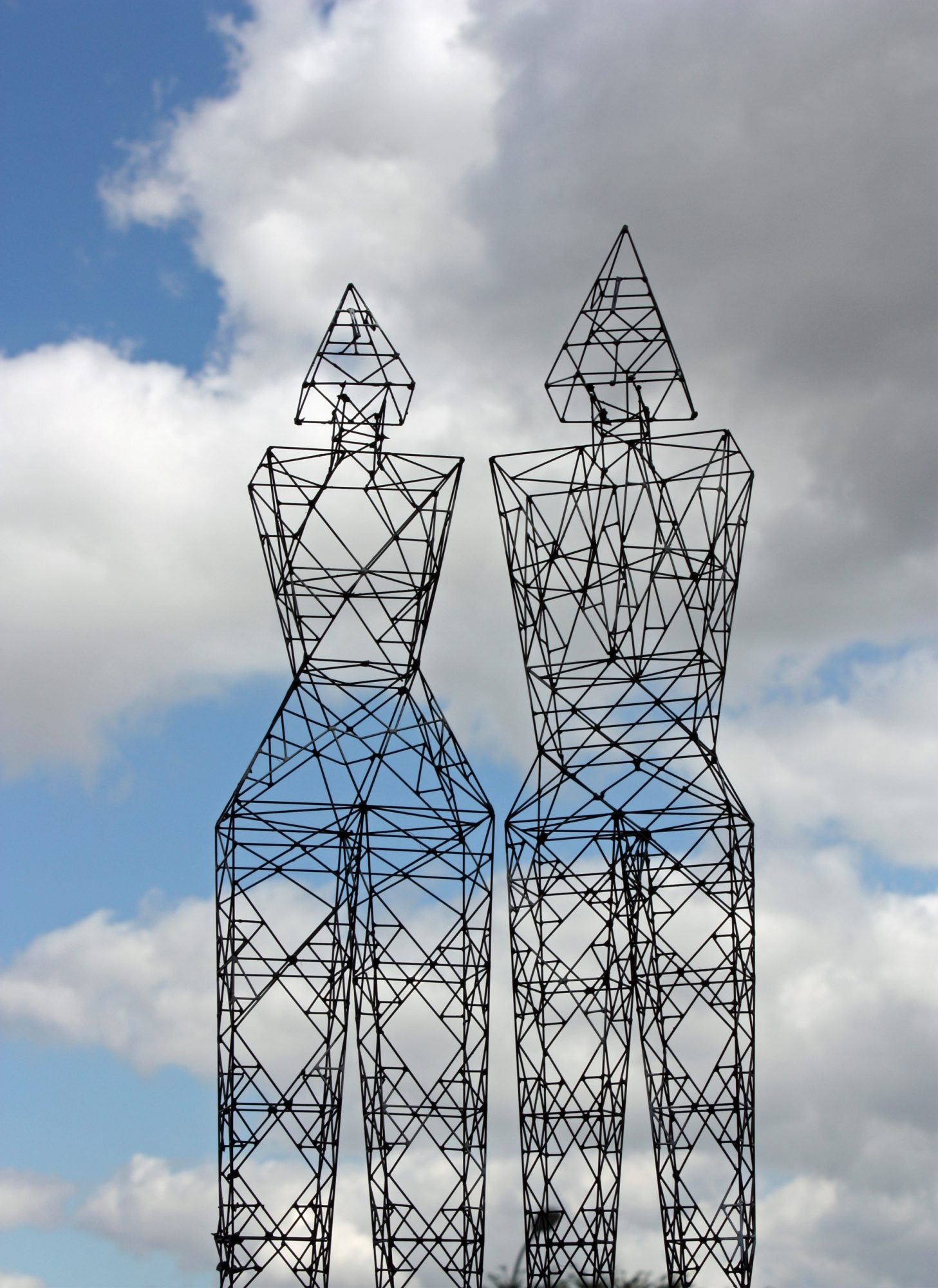Humanoid Sculpture-Pylons