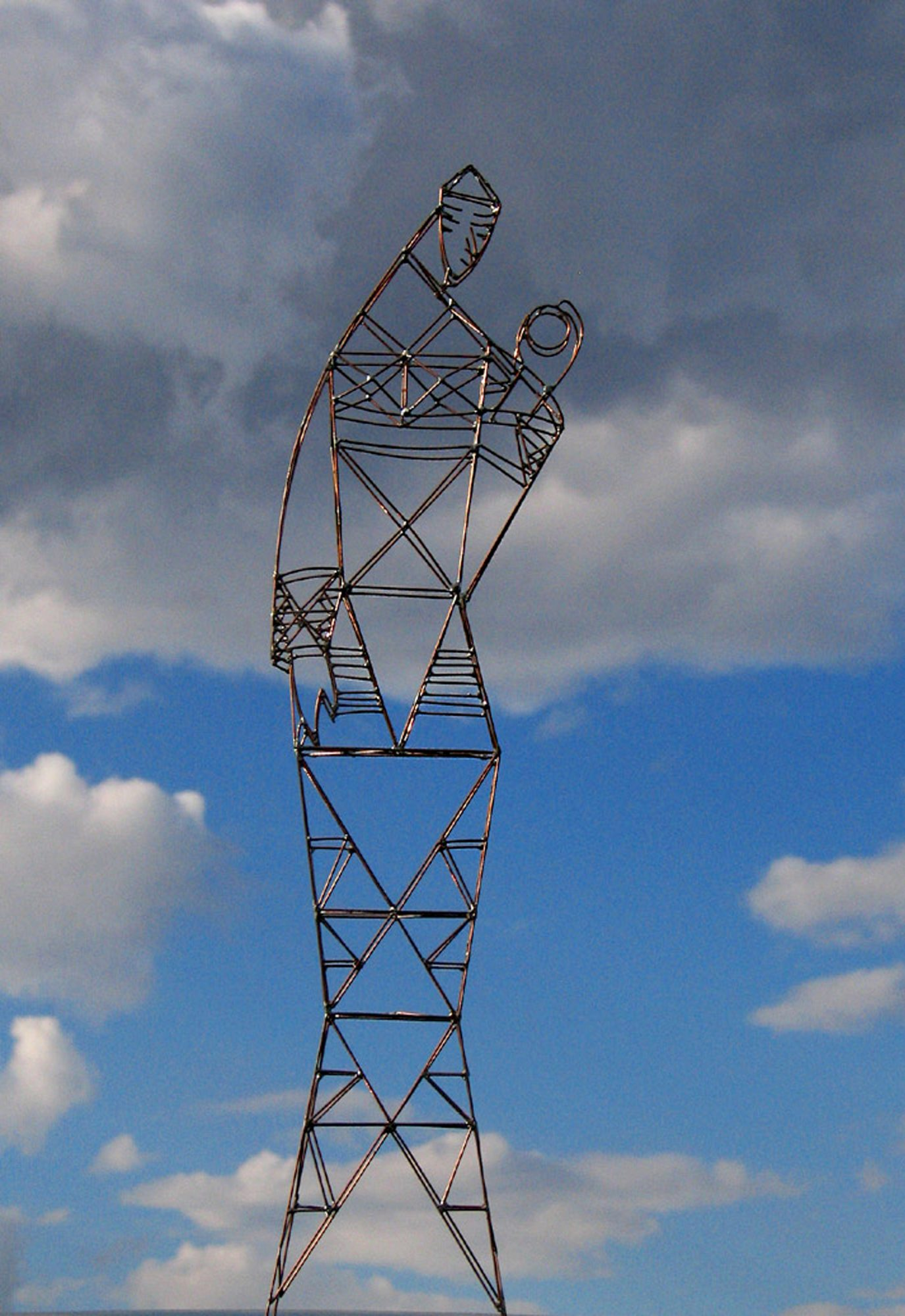 Ondine, Wind-Mast-Sculpture