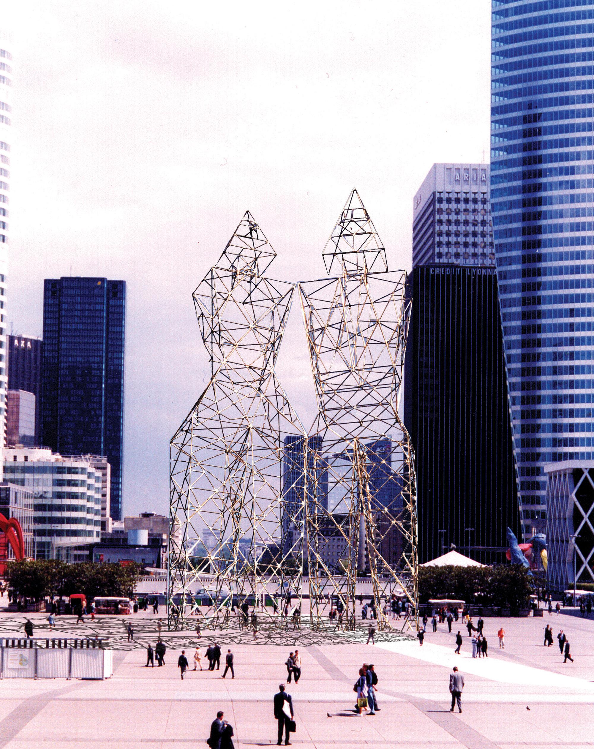 Humanoid pylons, project for La Defense, Paris